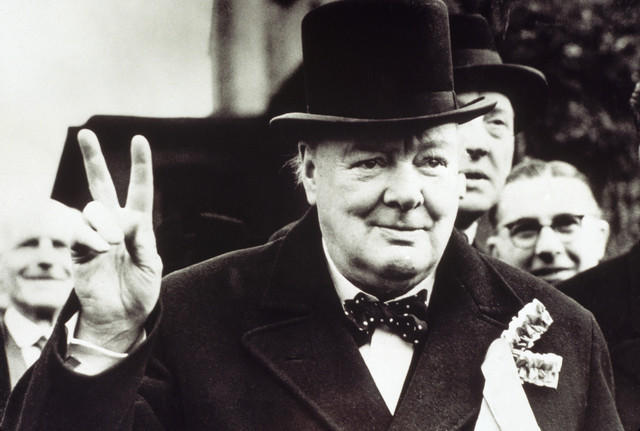 Making a Victory Sign